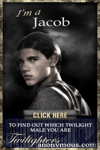 I'm a Jacob! I found out through TwilightersAnonymous.com. Which Twilight Male Are You? Take the quiz and find out!