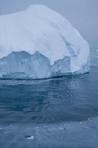 Icebergs at the foot of Ilulissat Kangia (Danish name Jacobshavn Glacier)