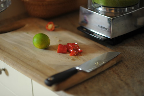 Sliced red chile pepper by Cookthink