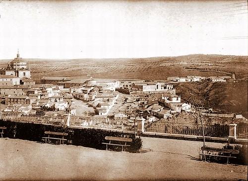 Paseo del Miradero, foto escaneada por Toledo Olvidado