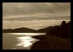 Sunset on Loch Linnhe (sepia) I (miranda ottink) Tags: sepia scotland gloaming lochlinnhe flickrsmasterpieces