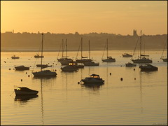 Morning light (ExeDave) Tags: uk morning autumn england sunrise river boats dawn october estuary explore devon gb yachts exmouth exe starcross eastdevon blueribbonwinner interestingness500 exeestuary teignbridge platinumphoto anawesomeshot