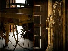 365_125 (DAJanzen) Tags: autumn fall wagon illinois timber beautifullight rope nikond200 105mmf28gvrmicro klinecreekfarm livinghistoryfarm insidethebarns