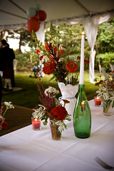 (Celine Kim) Tags: flowers ourwedding tablesetting headtable outdoorwedding 090608 jinceline