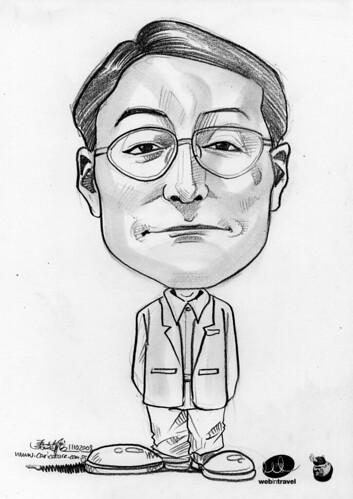 Caricatures Web in Travel 2008 Suguru Tomizuka