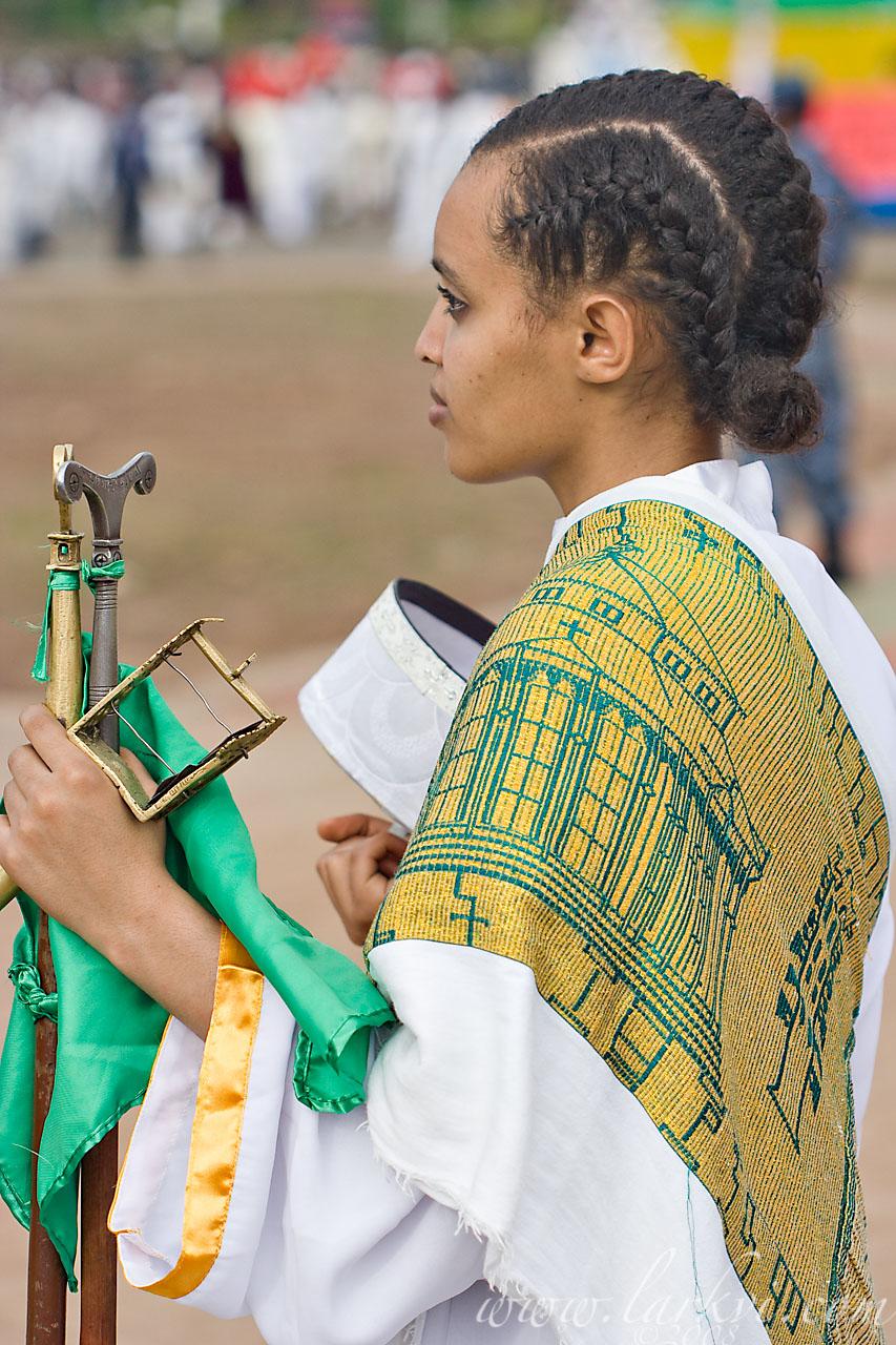 Choir Member, Meskel, Addis Ababa, Ethiopia, 2008