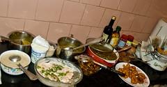 Diwali dinner (spo0nman) Tags: friends black love cooking dinner fun stew potatoes nice bangalore cooked diwali ki deepawali daal maa vada dahi baingan dahivada makhani aaloo medhuvada bhartha kalidaal gujjiya   coconurt