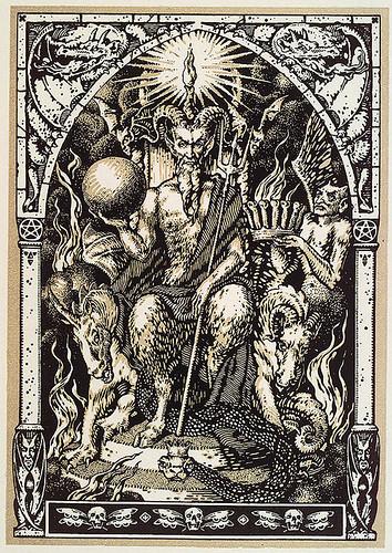 002-Satanas sentado en el trono- Maurice Garçon. La Vie Execrable de Guillemette Babin, Sorciere 1926