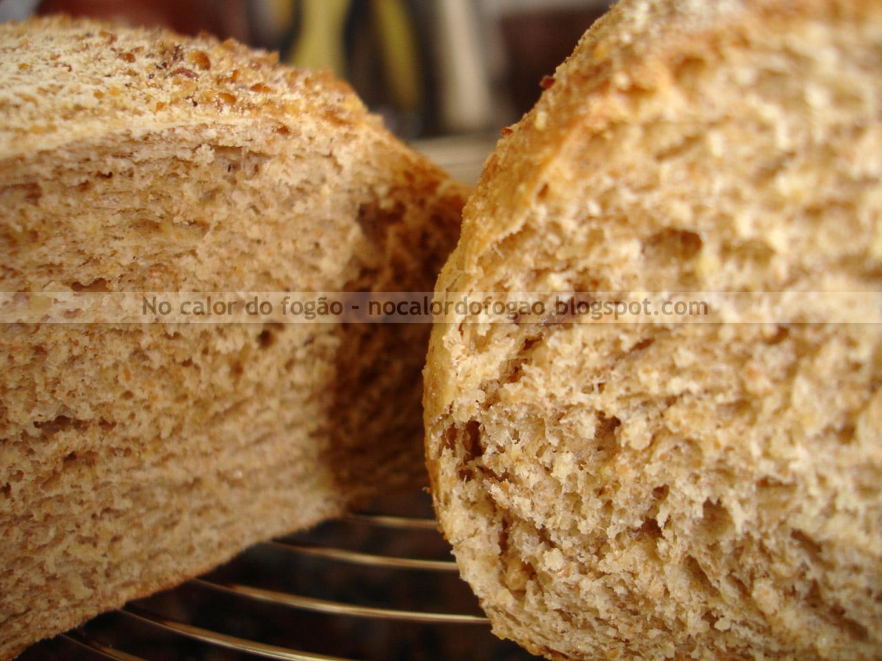 Pão integral de aveia e batata