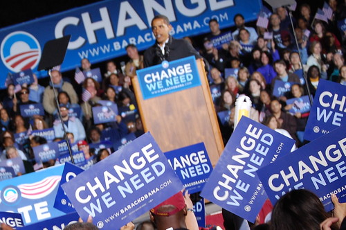Barack Obama in Manassas, Virginia by Tracy Russo.