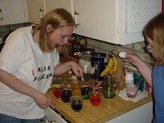 Dying Easter eggs, April '04.