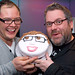 Alan Carr with Chris Moyles