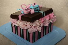 Present Box (Toni....) Tags: pink blue cake chocolate gift present fondant sweettreats toniitaly