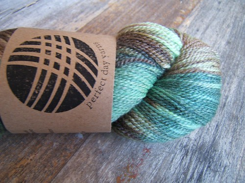 "Perfect Day Yarns, Merino/Seacell in ""Jungle"""