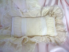 handmade pillow (skblanks) Tags: white french ruffles hand handmade lace embroidery pillow romantic ribbon stitched ecru ruching