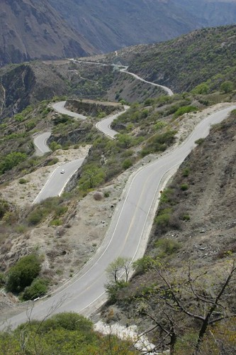 OMG! Switchbacks west of Cusco.