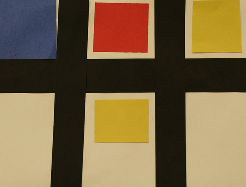 Avery's primary colored rectangles and squares