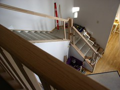 Dry fitting the custom stair way (Imagination Unincorporated) Tags: oak oneofakind router custom stairrail baluster newelpost safetyrail stairrailing curvingstair routered oakrail newl balister handroutered oakstairrail starirrailing safetyrailing oakrailing