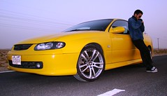 $ monaro $ (Mesbahinho) Tags: chevrolet car sport yellow digital photo 2000 04 kuwait coupe v8 holden monaro v6 q8 luminass