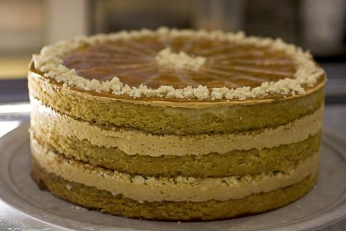 A huge Dulce de Leche Cake