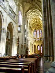 Inside the St. Vitus Cathedral