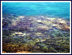 Underwater (petitillusion) Tags: africa blue sea summer water spain travels holidays morocco mediterraneansea ceuta