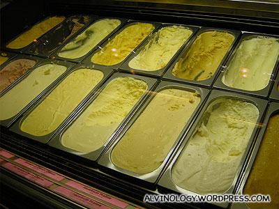 Ice cream flavours
