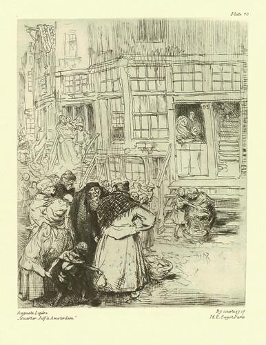 008-Auguste Lepère- Barrio judio en Amsterdam