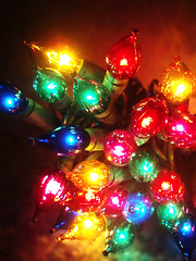 light up the room (daisy_princess) Tags: christmas blue decorations red green colors yellow lights rainbow holidays pretty purple bright multicolored