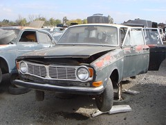 DSC04786 (rat_fink) Tags: wagon volvo rust weathered junkyard boneyard stationwagon b20 145 140 145s