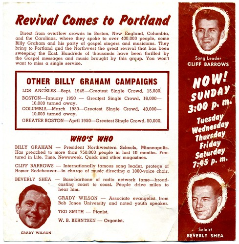 Billy Graham in Portland (1950) - Inside