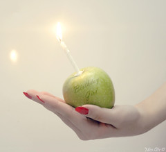 [ 16 ] (` ms.Qtr) Tags: birthday red people 3 cute green love apple girl beautiful beauty canon happy person flickr pretty day candle birth bday 16 2008 pure edit doha hbd 2611 famel 400d q6r missqtr