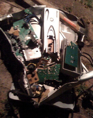 Smashed up set top box 2