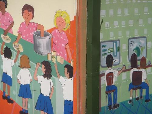 Pintando en Escuela Guararí, Heredia