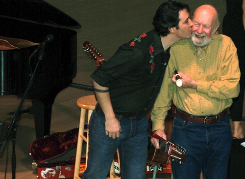 Tao Rodriguez Seeger and Pete Seeger