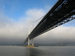 fog over fife (hockadilly) Tags: bridge winter water fog river scotland boat sailing yacht estuary firth firthofforth forthroadbridge 10millionphotos