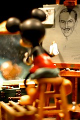 Which came first, the man or the mouse? (Abby Lanes) Tags: portrait man art creativity mouse artist drawing disneyland creative disney mickeymouse create waltdisney easle butterflyeffect goldstaraward