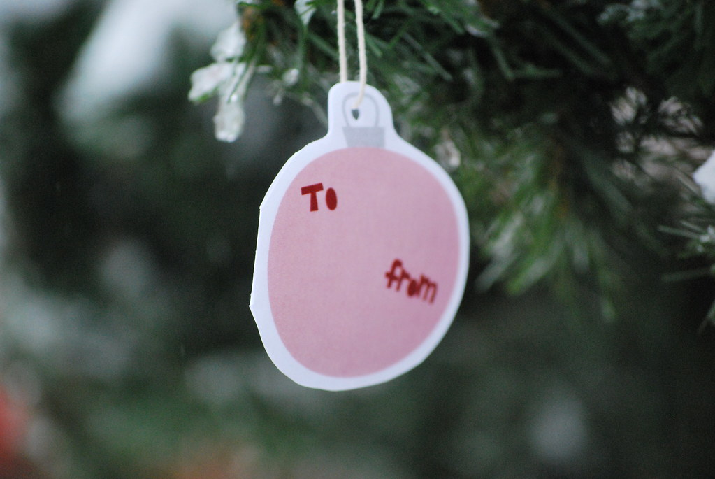 Printable gift tag ornament