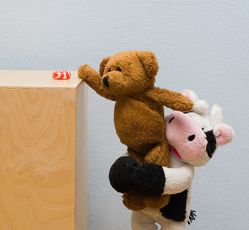 Cow helps Teddy to reach the candy 16/365 by DoKo..