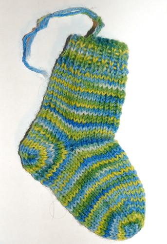 Mini sock ornament!