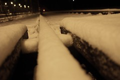 Follow me (*Kicki*) Tags: snow monochrome station night december minolta sweden schweden monotone cc creativecommons dynax7d 7d konica sverige dynax 2008 sn natt suede monocrome konicaminolta vstmanland kicki fagersta bergslagen konicaminoltadynax7d engelsberg ulvaklev svenskaamatrfotografer ngelsberg kh67