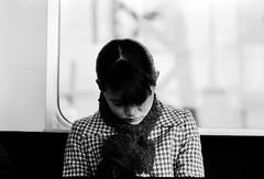 japanese lady #2 (manuel cristaldi) Tags: leica travel people blackandwhite bw film japan lady scarf 35mm subway asian japanese blackwhite women noiretblanc metro trix stalker osaka kansai bwemotions blackandwhitegallery schwarzweis metrolife views1000 greatpixgallery10faves artlibre lafebbra2 manuelcristaldi artlibres feltlife myverypersonalbw