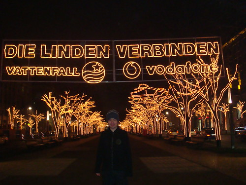 """Unten Der Linden� with Christmas Lights"