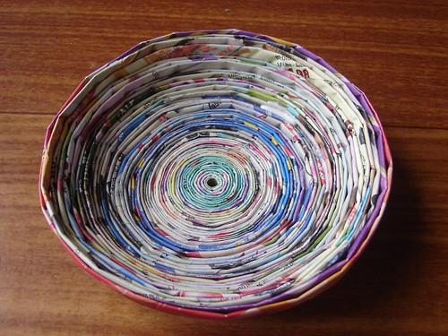 A arte em reciclar - canudos de papel