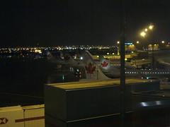 夜晚的停機坪