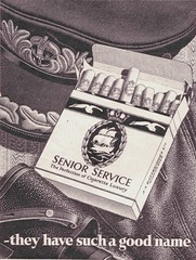 SENIOR SERVICE (old school paul) Tags: vintage ads smoking cigarettes tobacco 1953 seniorservice