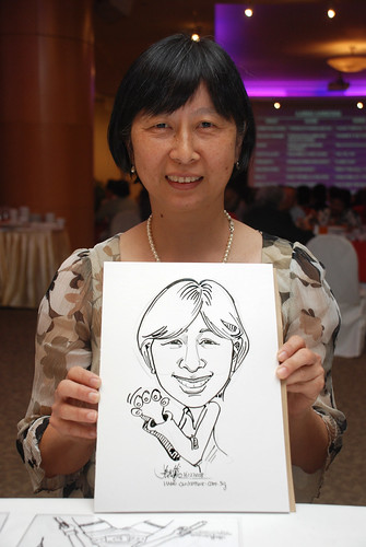 Caricature live sketching for Christ Methodist Church Christmas Celebration - 12