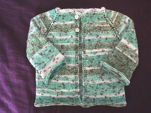sock yarn baby cardie