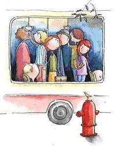 有的人很窘迫,總處於推搡和擁擠之中。