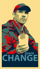 Change (Paul Wicks) Tags: poster funny satire humor change spare ironic obama recession sparechange